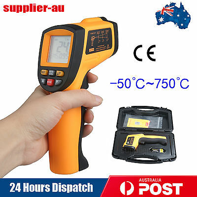 -50~750 Celsius Infrared IR Thermometer Temperature Laser Gun Meter + Tool Box