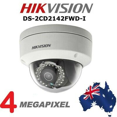 AU Stock HIKVISION DS-2CD2142FWD-I 4MP IP POE IR 4mm Outdoor Security Camera