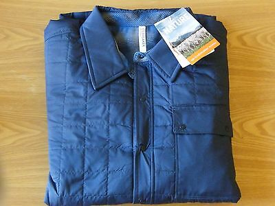 Icebreaker Men's MerinoLOFT Helix Reversible Shirt Color-Admiral ( Brand New )