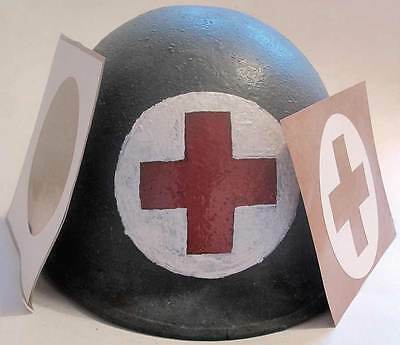 Medic Helmet Stencil USA Red Cross Medical First Aid M1 M2 M1C WW2 WWII decal