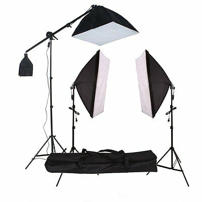 415W Illuminazione set studio foto lampada flash kit softbox stativo fotografia