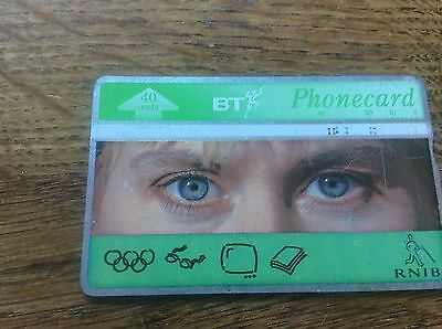 BT Phonecard RNIB Royal National Institute for the Blind Charity Celebrity Quiz