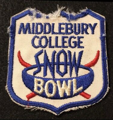 MIDDLEBURY COLLEGE SNOW BOWL Skiing Ski Patch VERMONT VT Souvenir Resort Travel