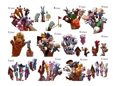 finger toy The nursery rhyme finger puppet Fable story more vivid 30 storys