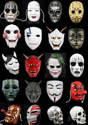 28 RESIN Handcraft Halloween Masquerade mask ornaments Collection cosplay masks