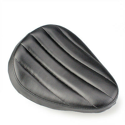 Motorcycle Solo Seat Leather Contoured For Harley Chopper Custom Bobber