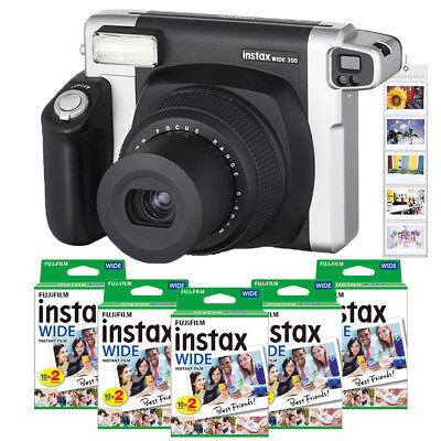 Fujifilm Fuji Instax WIDE 300 Camera + Instant 210 Wide Film Photos + Free Gift
