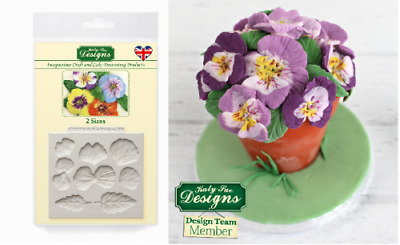 Katy Sue PANSIES Flower silicone Cake Decorating Mould