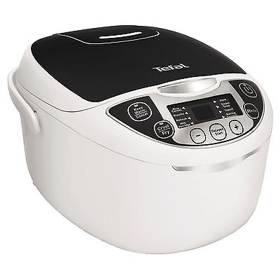 Multi Cooker Slow Cook Soup Rice Steam 12 Settings White Tefal RK705840 5L New