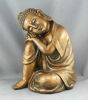 Serene Vintage Chinese Buddha Statue Made Of Fibreglass Excellent Condition