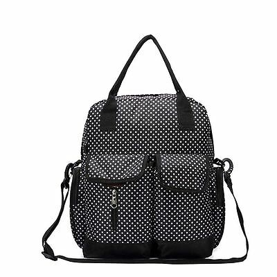 Babyhugs® 6pcs 4-way Nappy Changing Diaper Backpack Bag - Black with White Dots