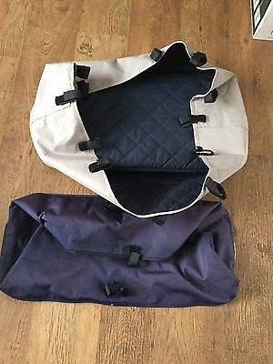 Bugaboo Frog Beige Carrycot & Spare Blue Cover With Baseboard And Mattress