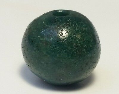 Ancient Rare Green Serpentine Stone Bead
