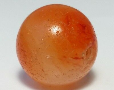 14.7mm ANCIENT RARE BANDED CARNELIAN / AGATE BEAD
