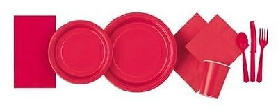 RUBY RED Party Tableware Disposable Birthday Supplies Event Decorations