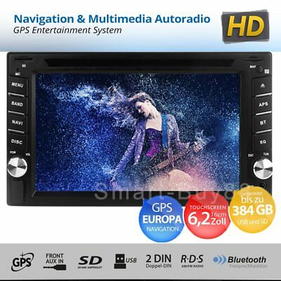 Autoradio GPS Navigation NAVI Bluetooth Touch Screen DVD MP5 Player USB SD 2 DIN