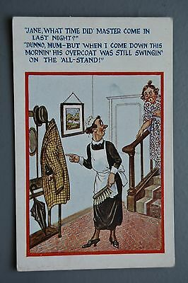 R&L Postcard: Comic, HB 2954, Jane, Maid, Cleaner, Late Night, Hatstand