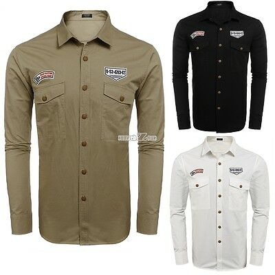 Ralph lauren classic fit long sleeve shirt size l for Mens military style long sleeve shirts