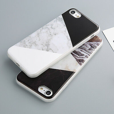 Marble Pattern Slim Rubber Soft TPU Silicone Case Cover For iPhone SE 5 6 7 Plus