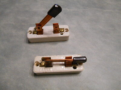 knife switch steam punk eagle cat 617 ceramic knife switch (2) new old stock