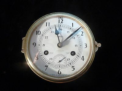 Boston  Swift Ships Strike Ship Bell  Brass Clock  with rare temperature gage