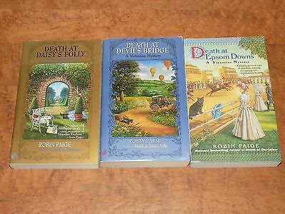 Lot of 3 Victorian Mysteries by Robin Paige - paperback