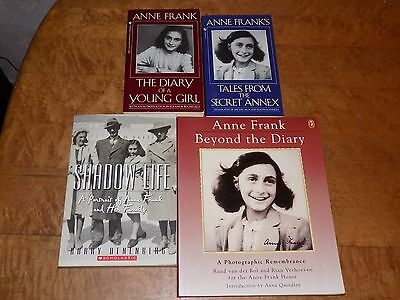 Lot of 4 books on Anne Frank - paperback