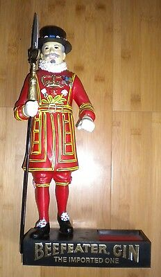 """Beefeater Gin Display Statue 17"""" high x 8"""" wide"""