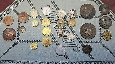 Mixed lot world coins US, Philippines, France, Mexico some silver