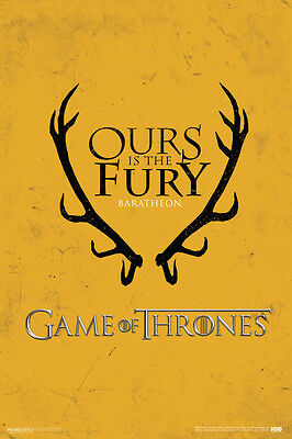 Game of Thrones House Baratheon HBO Television Poster - 12x18