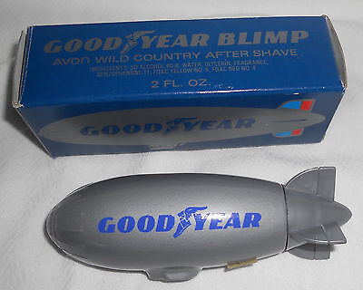 Avon Goodyear Blimp Wild Country After Shave Bottle with Box