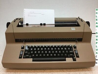 IBM Correcting Selectric II Tan/Brown Typewriter Vintage TESTED WORKING - Fair