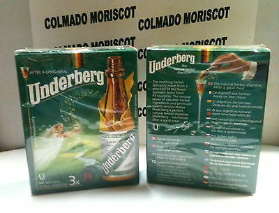 UNDERBERG Pack-3 x 20 ml 44%  cristal miniatura mignonette mini bottle flaschen