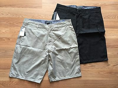 NWT Mens O'NEILL Flat Front Casual Marcos Shorts Khaki Black Size 34