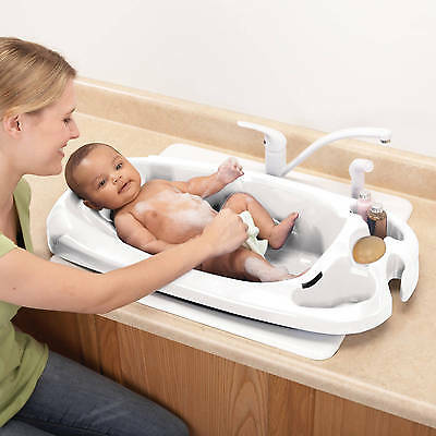 Baby Shower Safety Newborn Toddler Bath Tub Health Comfort Support Infant New