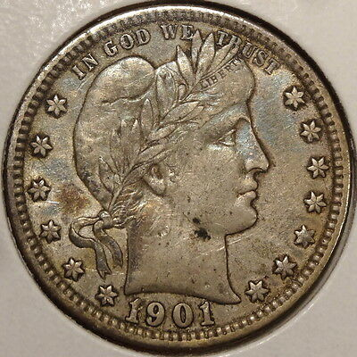 1901 Barber Quarter, Extremely Fine+, Discounted Better Date    0301-25