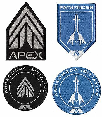 MASS EFFECT ANDROMEDA EMBROIDERED PATCH SET of 4 APEX FORCE PATHFINDER GAME SO