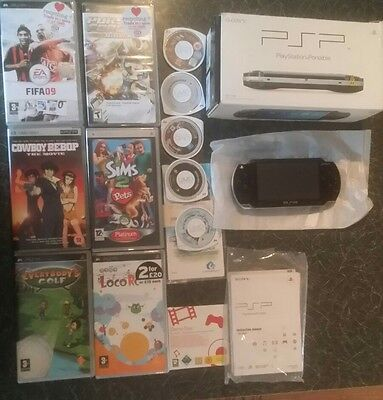 SONY PSP Console 2GB & GAMES Boxed