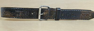 "Vintage leather belt 28"" waist Levi Weangler Lee Cooper brown quality leather"