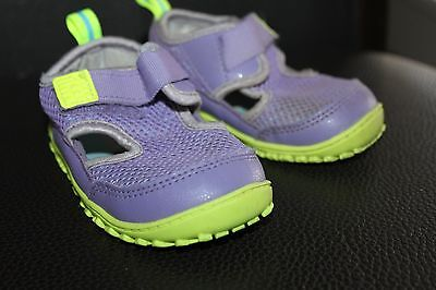 REEBOK shoes toddler girl sz 6 PURPLE GREEN SUMMER SHOES RUNNING ATHELTIC