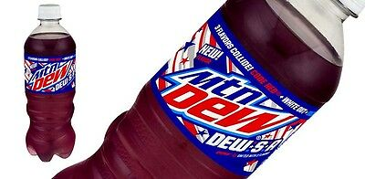 Mountain Dew - DEW S A - 4th of July LIMITED TIME - 20 oz bottle X2 Two Bottles