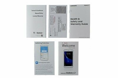 NEW T-Mobile Samsung Galaxy J7 Manual / Consumer Info / Product Safety Info