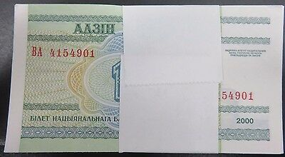 Belarus 100 Note Bundles 1 Rouble Notes 2000 Uncirculated