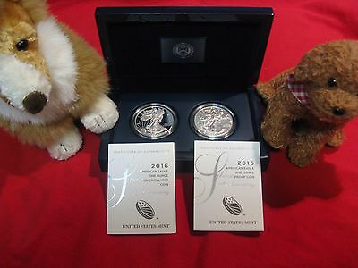 2016 AMERICAN SILVER EAGLE 30th Anniversary edging 2 coins Proof & Uncirculated