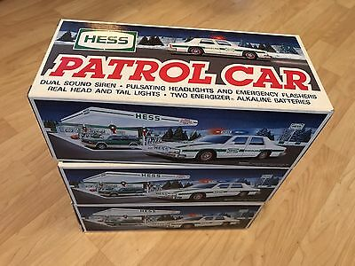 (3) - 1993 Hess Toy Cop Police Cars MINMB Gasoline Gas Oil Fuel No Reserve