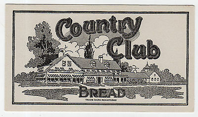 Excellent, Unused, Vintage Advertising Ink Blotter For Country Club Brand Bread