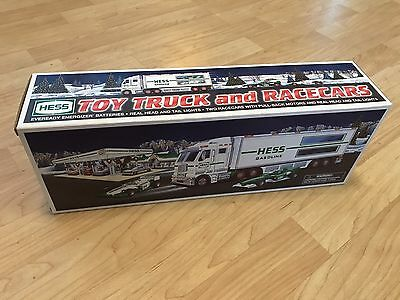 2003 Hess Toy Truck And Racers NMINMB Gasoline Toy Gas Oil No Reserve