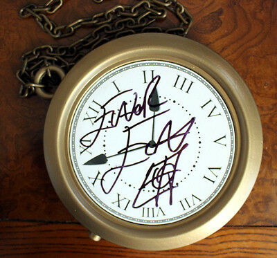 Old School Hip Hop Costume Plastic Clock Necklace signed by FLAVOR FLAV!