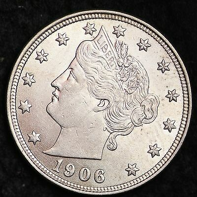 1906 Liberty V Nickel CHOICE BU FREE SHIPPING E224 CCT
