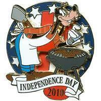 Goofy Bbq July 4 Independence Day 2010 Le 1500 Wdw Disney Pin 77701